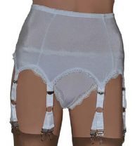 12 Clip 6 Strap (V-Clip) Suspender Belt in Black or White